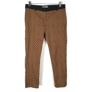 LOFT Pants - LOFT Marisa Pant Orange Black Flower 6P